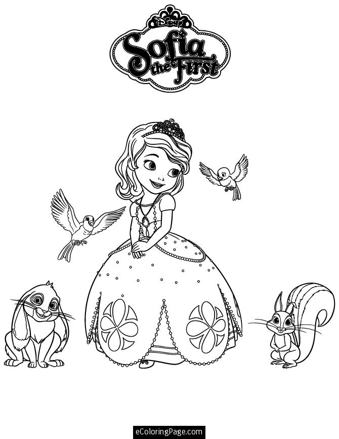 Sophia The First Coloring Page