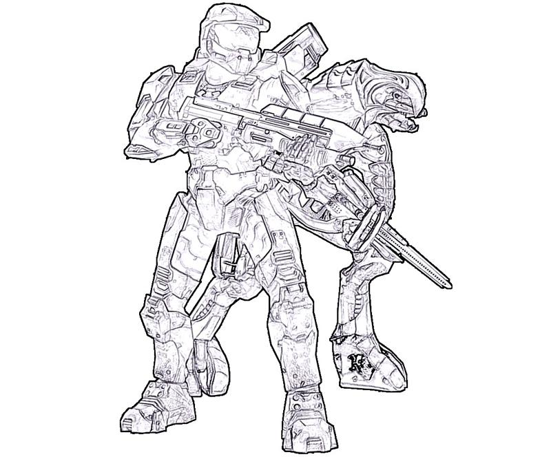 Halo 4 Coloring Pages To Print Coloring Home
