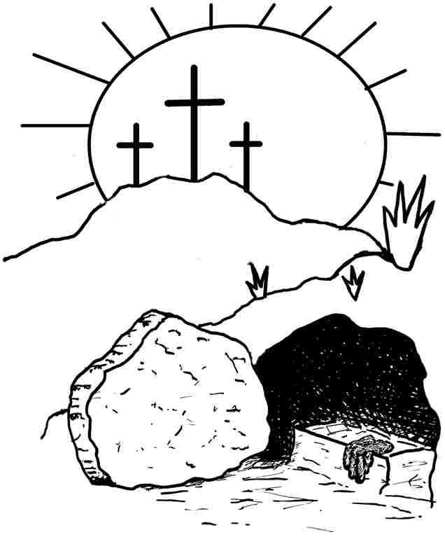free religious easter coloring pages coloring home