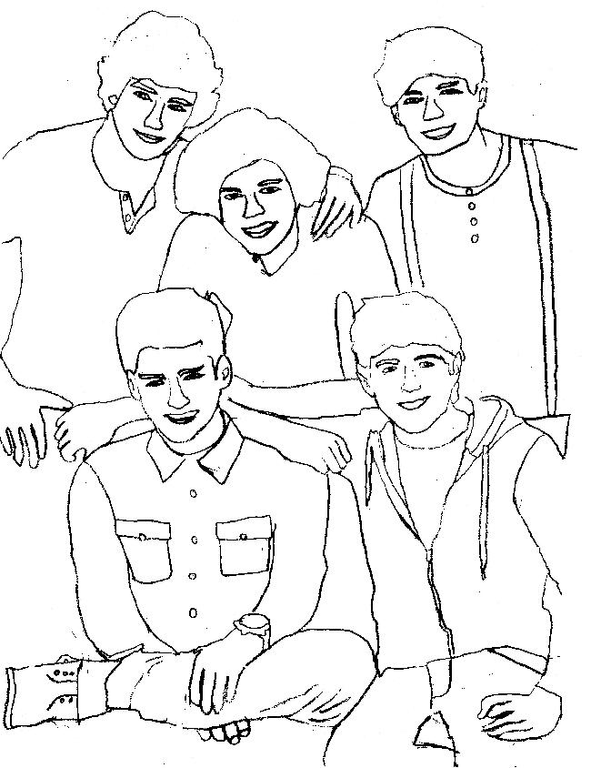 One Direction Printable Coloring Pages AZ Coloring Pages