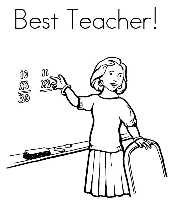 Teacher Appreciation Week Coloring Pages - Coloring Home