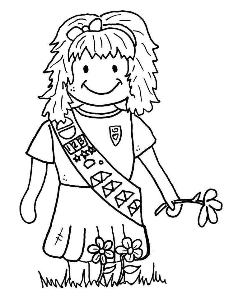 Girl Scout Promise Coloring Pages Coloring Home Scout Coloring Page Free