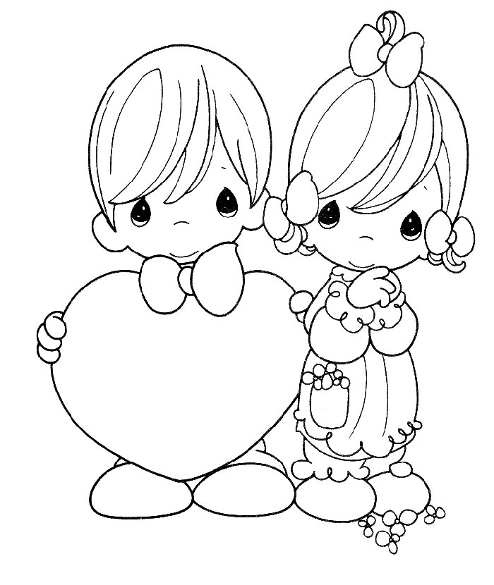 coloring pages for free. Precious Moments Valentine coloring pages ...