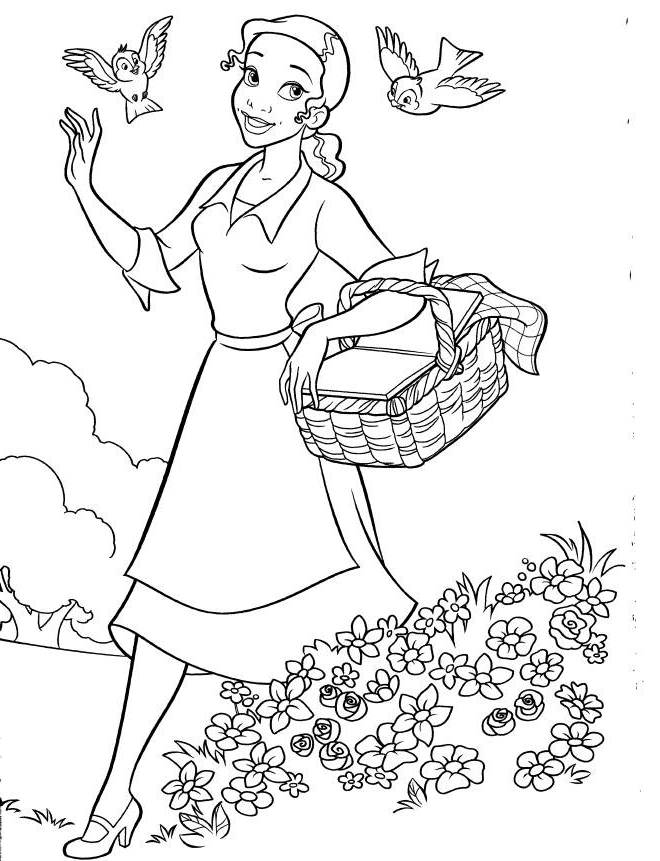 p is for princess coloring pages - photo #47