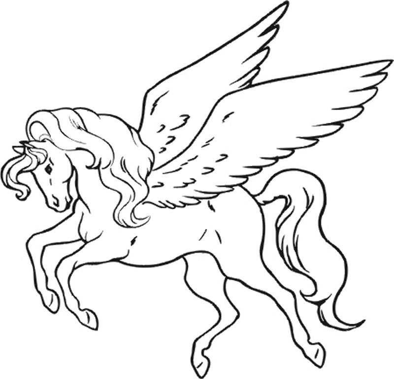 Unicorn coloring pages for kids coloring home for Rainbow unicorn coloring pages