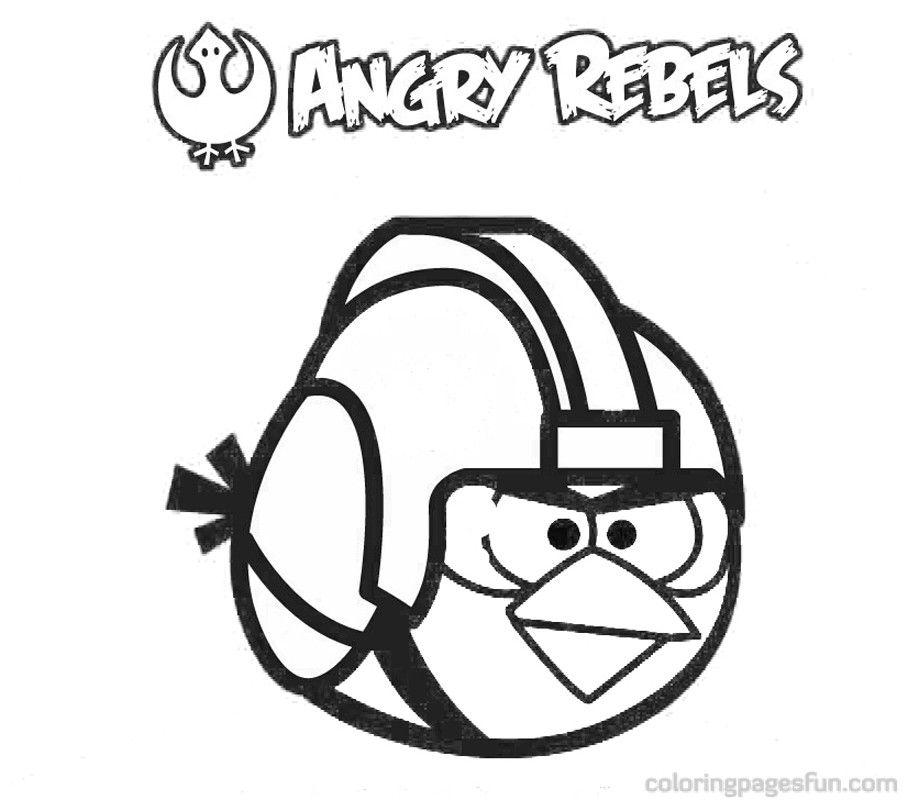 Dibujos Para Colorear Angry Birds Star Wars. Amazing Dibujos E ...