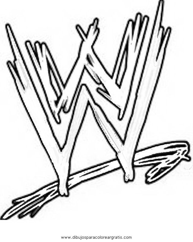WWE LOGO Colouring Pages
