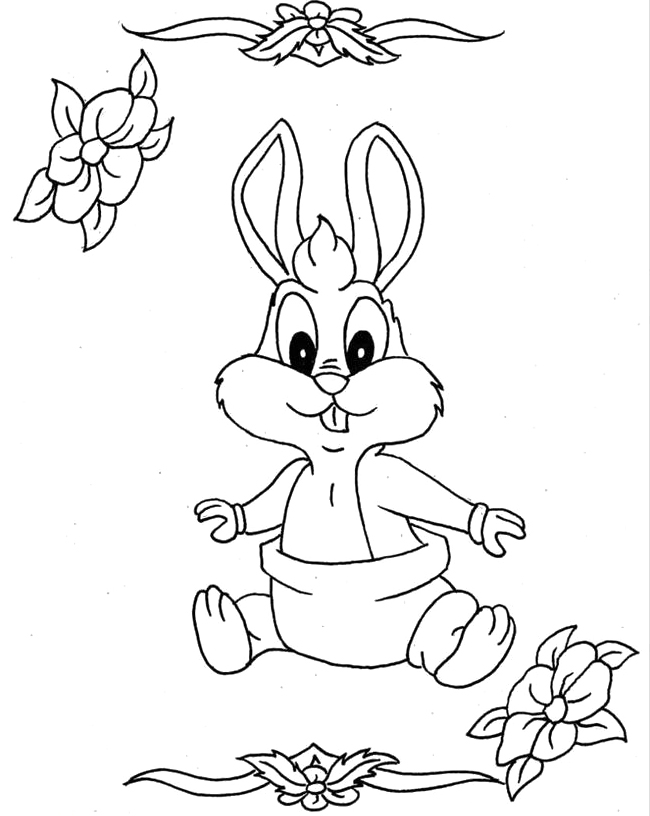 Free Kids Baby Bugs Bunny Coloring Pages Baby Bugs Bunny Coloring Pages