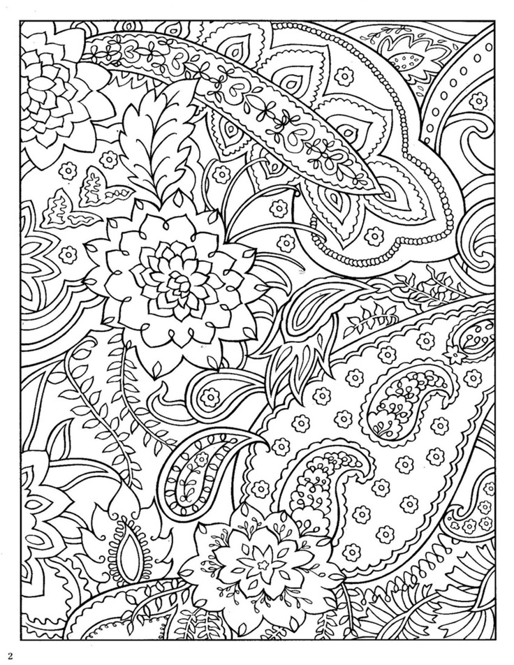 Coloring Pages To Print Designs : Pattern coloring pages for adults az