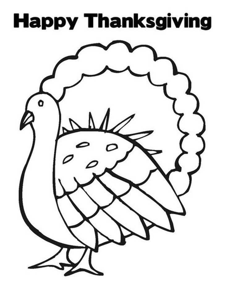 Happy Thanksgiving Turkey Coloring Pages Printables - Picture 11