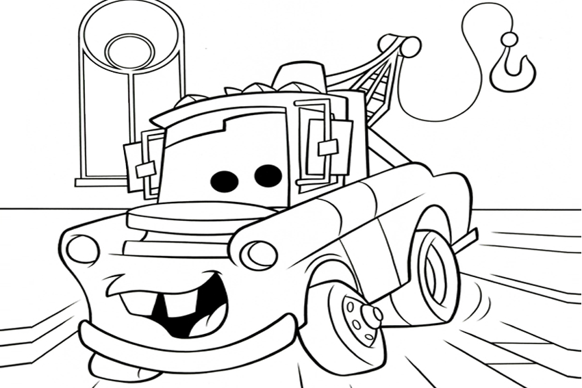 movie cars free coloring pages - photo#4