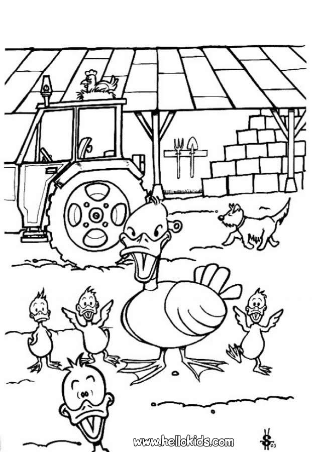 Ugly Duckling Coloring Pages