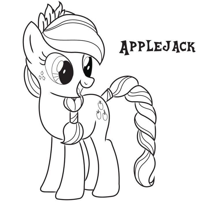 my little pony friendship is magic coloring pages applejack images - Kids Colouring Pages Free