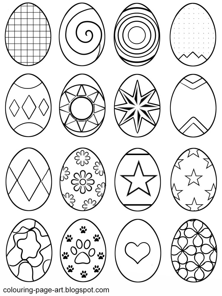 Multiple Easter Egg Coloring Page Pages Of Small Eggs