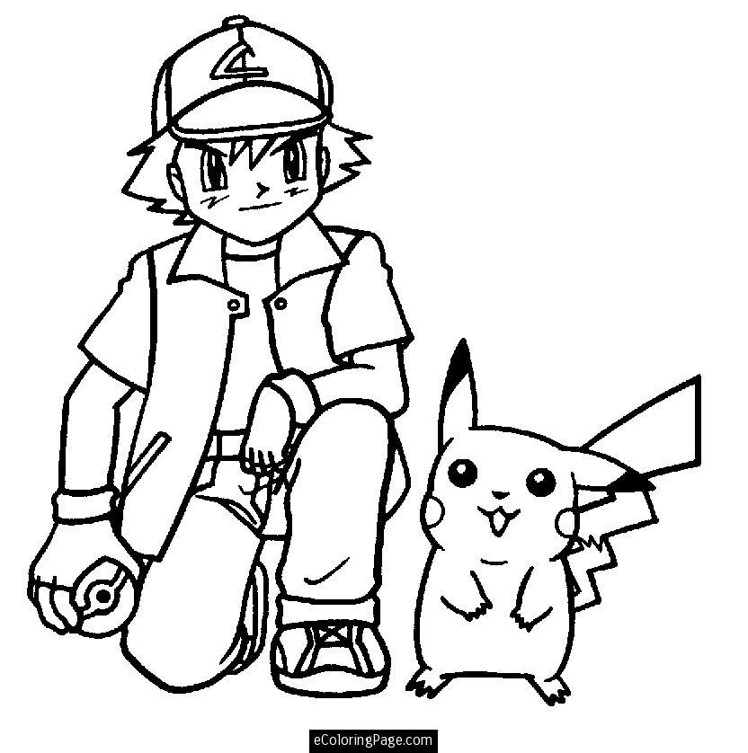 Pokemon Coloring Pages Pikachu Az Coloring Pages Ash And Pikachu Coloring Pages