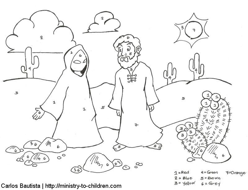 temptation of jesus coloring page az coloring pages. Black Bedroom Furniture Sets. Home Design Ideas