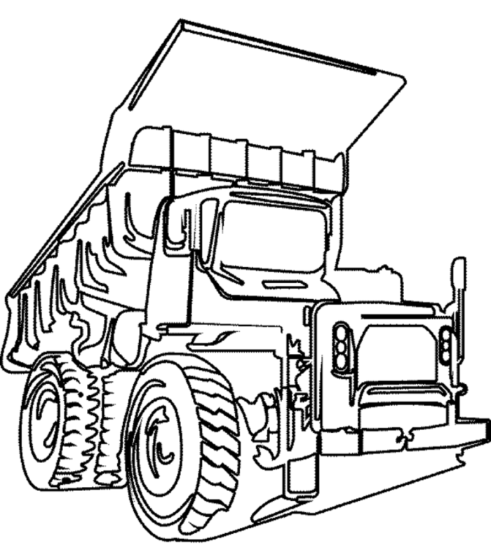 Супер грузовик раскраска
