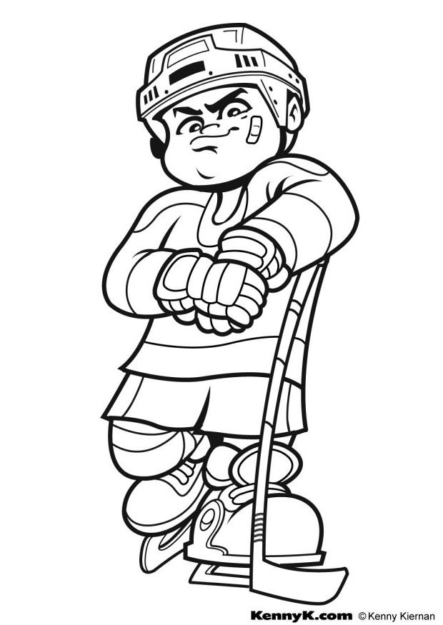 Ice hockey coloring pages coloring home for Hockey coloring pages printable