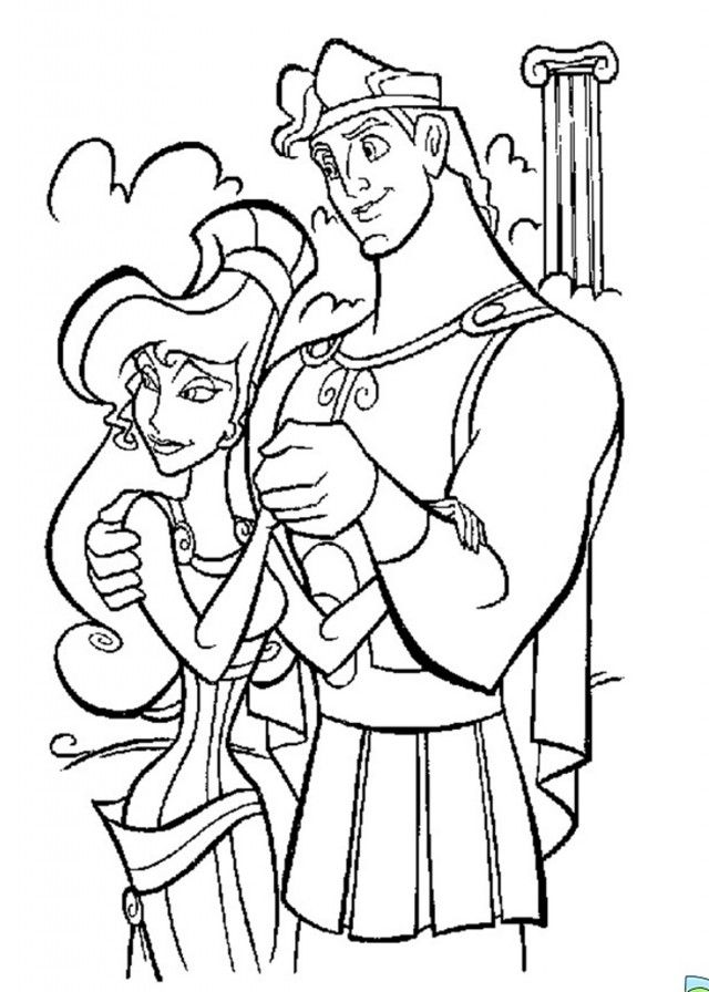 disney hercules coloring pages - photo#18