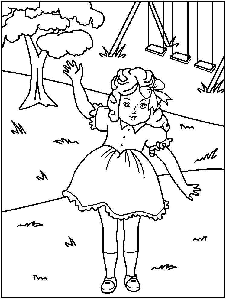 coloring pages for kids american girl | Coloring Pages For Kids