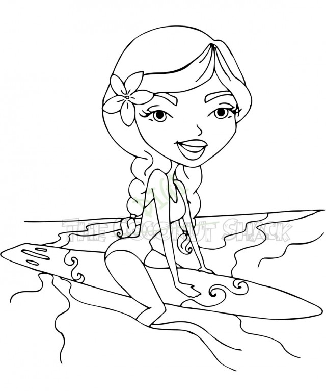 surfer coloring pages - photo#4