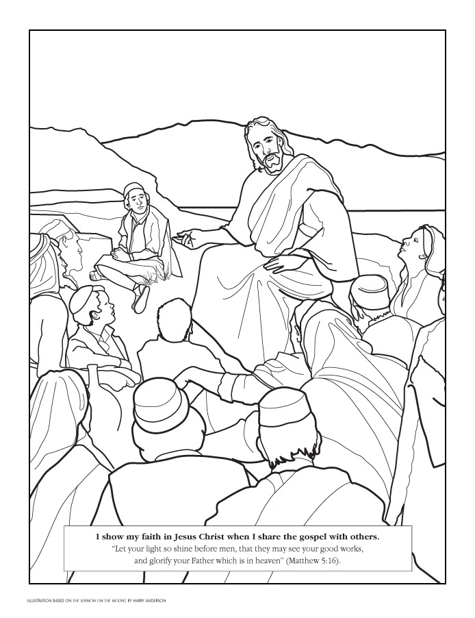 Coloring Page - Liahona Oct. 2007 - liahona