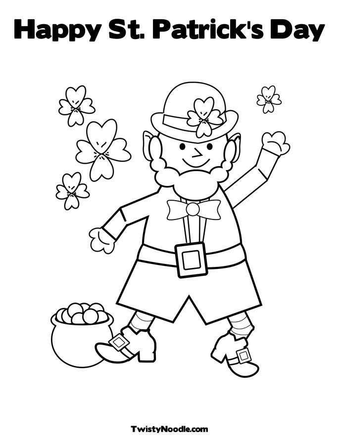 Happy St Patrick's Day Coloring Pages - part II