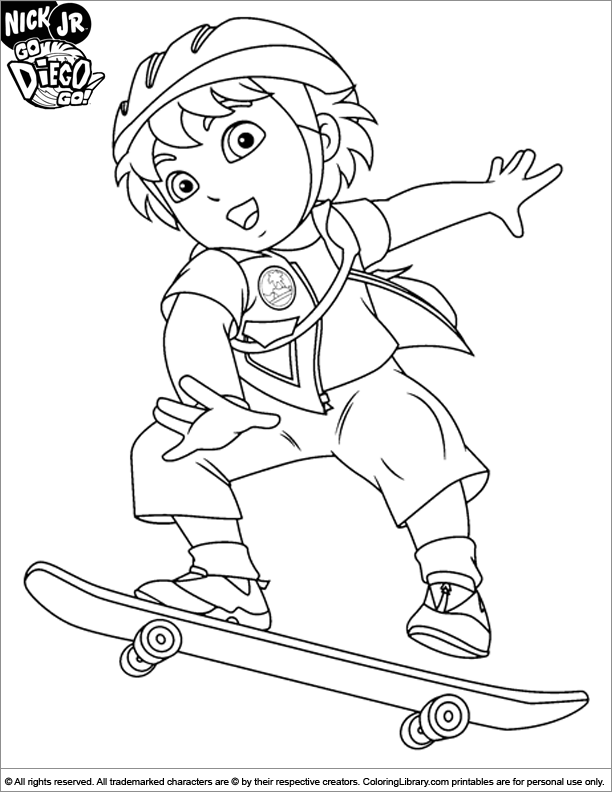 diego coloring pages online - go diego go coloring pages coloring home