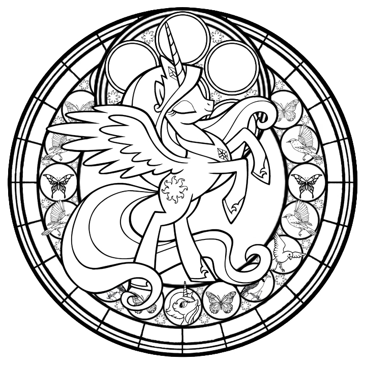 detailed stained glass coloring pages - photo#9