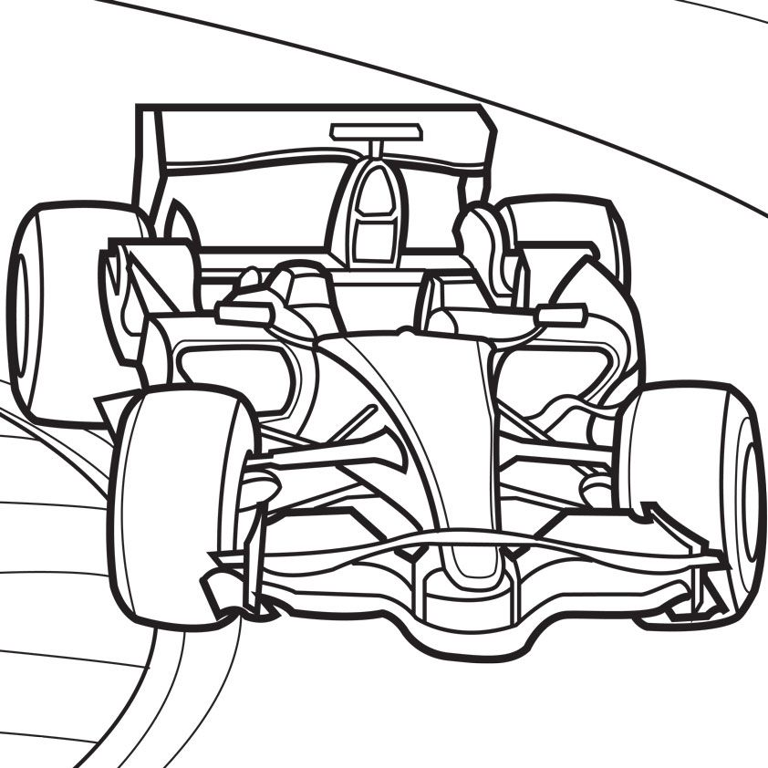 race car track digital coloring book illustrator