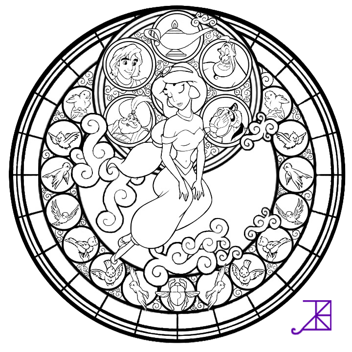 stainglass coloring pages - photo#31