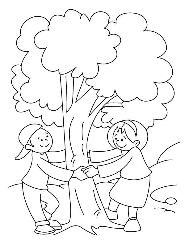 Save tree coloring pages | Download Free Save tree coloring pages