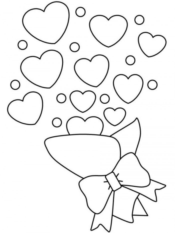 Heart Shape Coloring Page Coloring Home