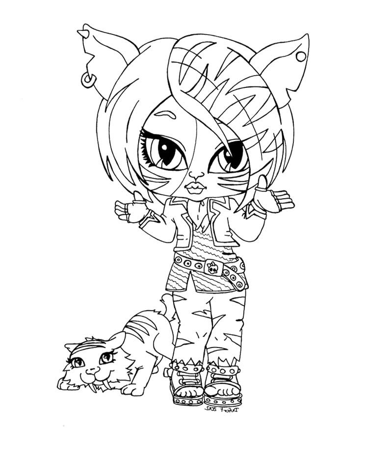 small monster high coloring pages-#13