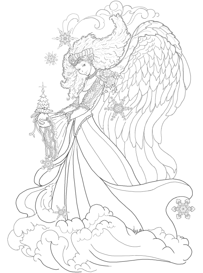 magical fairy coloring pages - photo#15