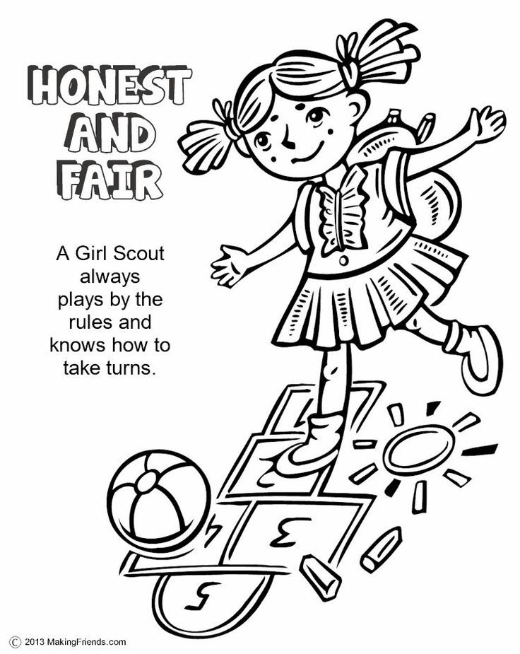 Daisy Scouts Coloring Pages Coloring Home Scout Color Pages