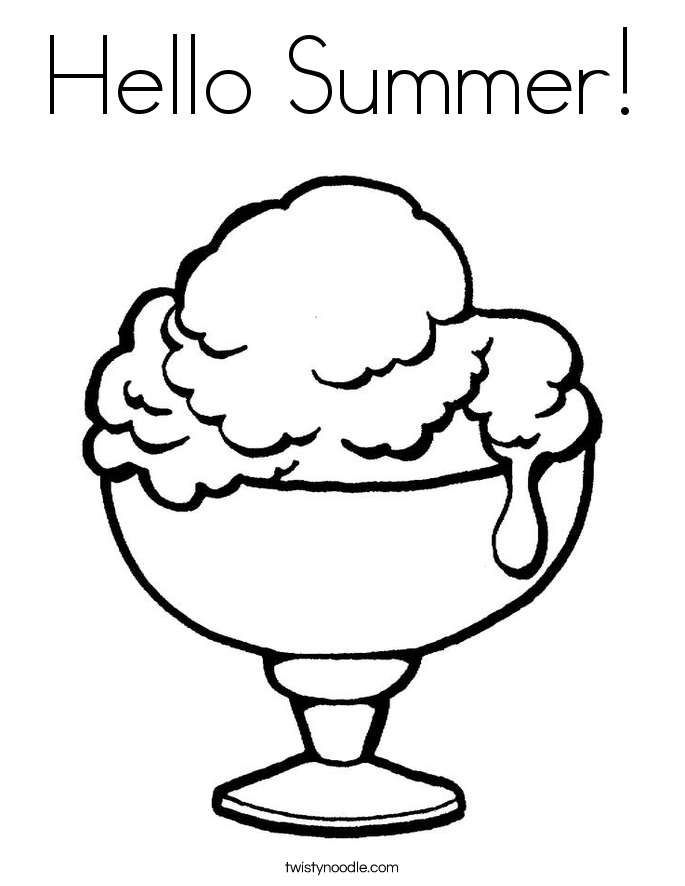 Coloring Pages Of Summer  Coloring Home