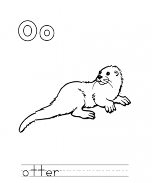 Sea Otter Coloring Page - AZ Coloring Pages