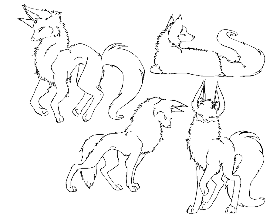 Wolf Outline Drawing - Coloring Home