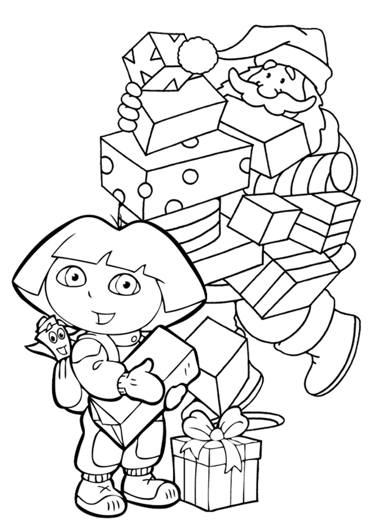www coloring pages com christmas - dora christmas coloring pages coloring home
