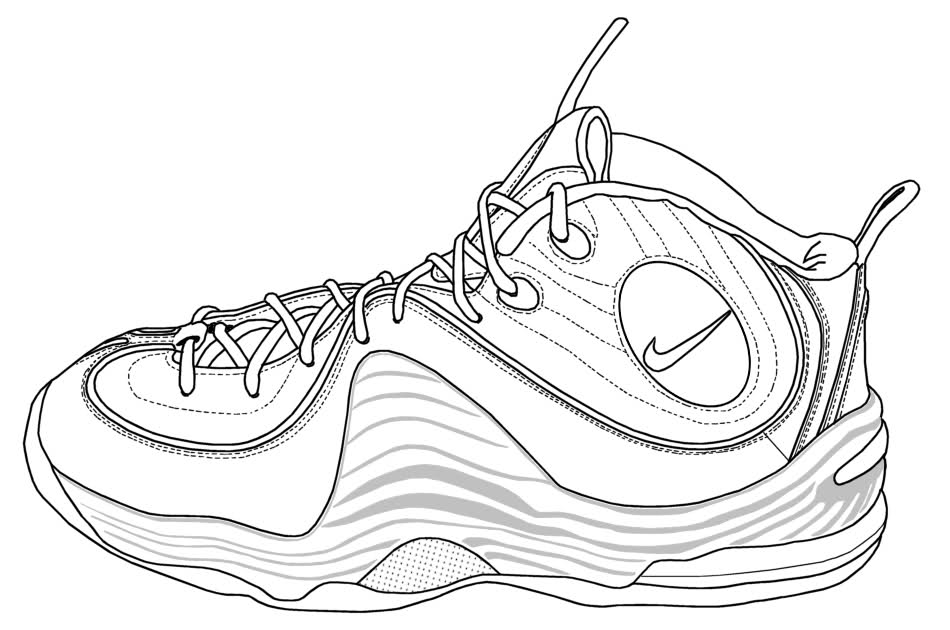 Nike shoes coloring pages