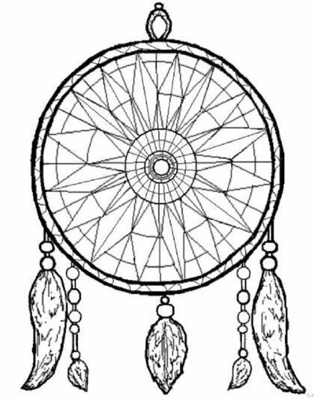 dreamcatcher-coloring-page | Free Coloring Pages on Masivy World