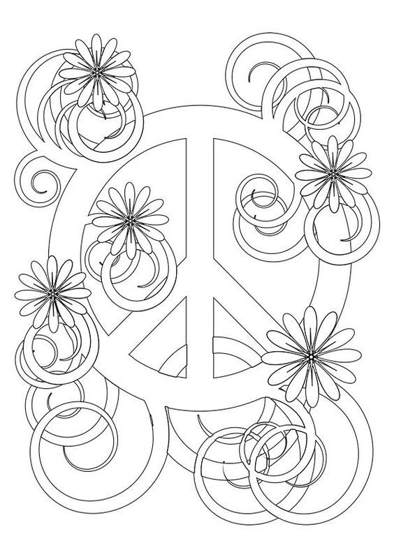 coloring pages peace love - photo#19