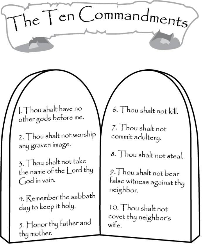 free coloring pages ten commandments - photo#10