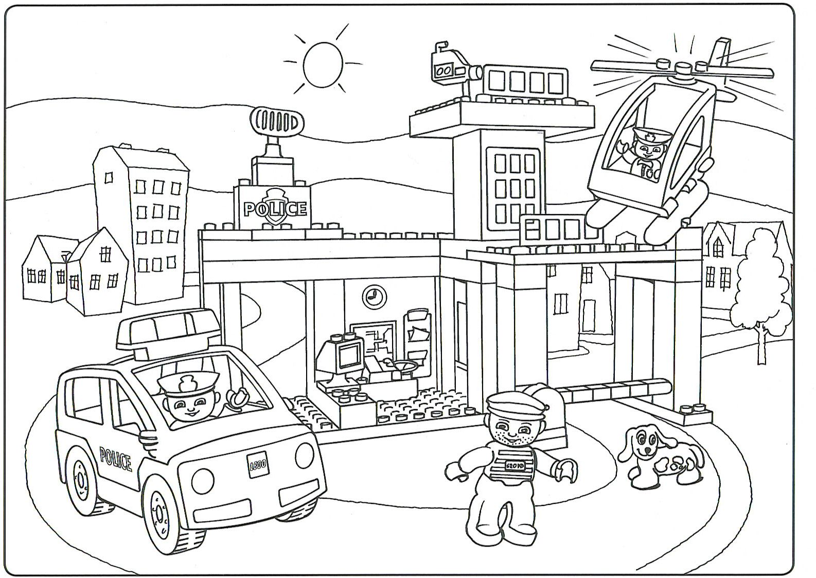 Lego Duplo Coloring Pages - Coloring Home