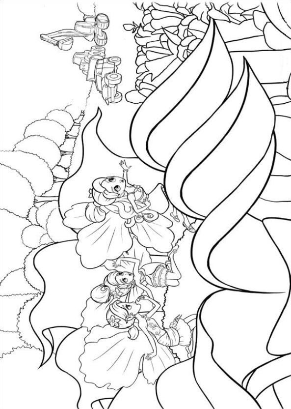 Kids-n-fun.com | 19 coloring pages of Barbie Thumbelina