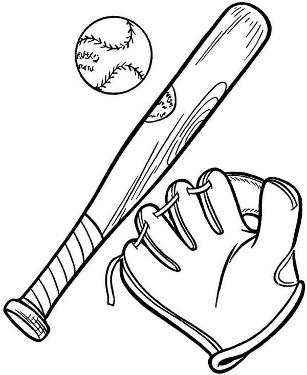 Complete Baseball Gears In Mlb Coloring Page Color Luna