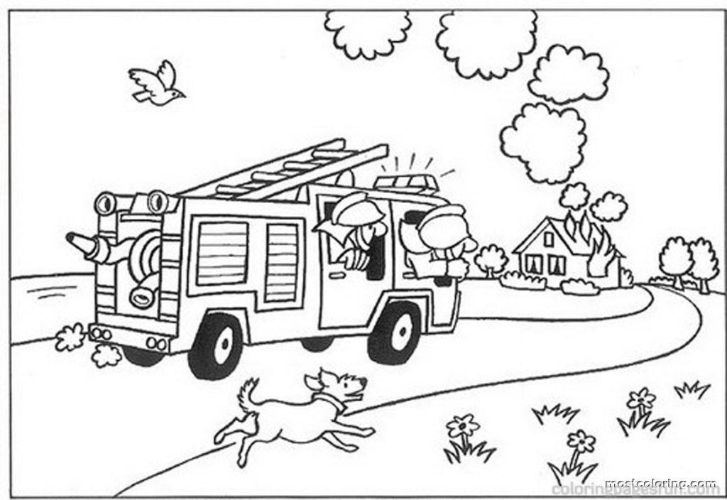 free fire truck coloring pages printable for kids best diy