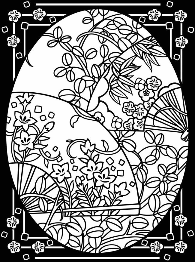 complex stained glass coloring pages - photo#19