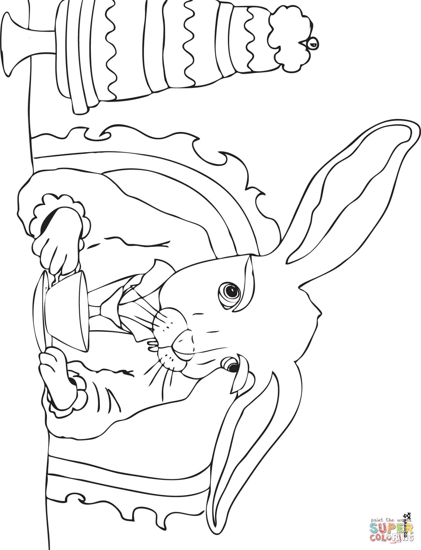 mad hatter coloring pages - photo#38